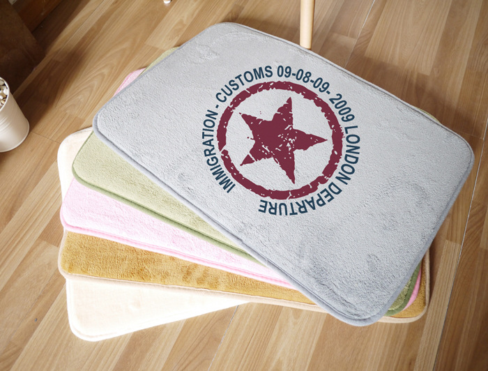 Free-shipping-40-60cm-Print-Pattern-London-font-b-Departure-b-font-Star-on-Floor-Mat